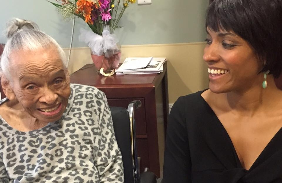 Alicia Hall Moran with Dr. Olivia J. Hooker
