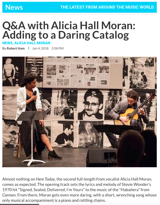 Q&A with Alicia Hall Moran: Adding to a Daring Catalog